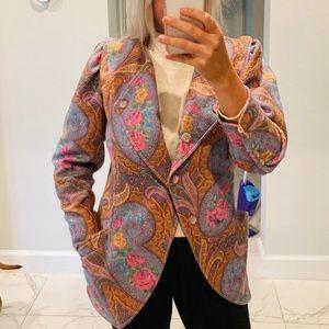 Vintage Emanuel Ungaro Silk Blazer Puff sleeveEUC